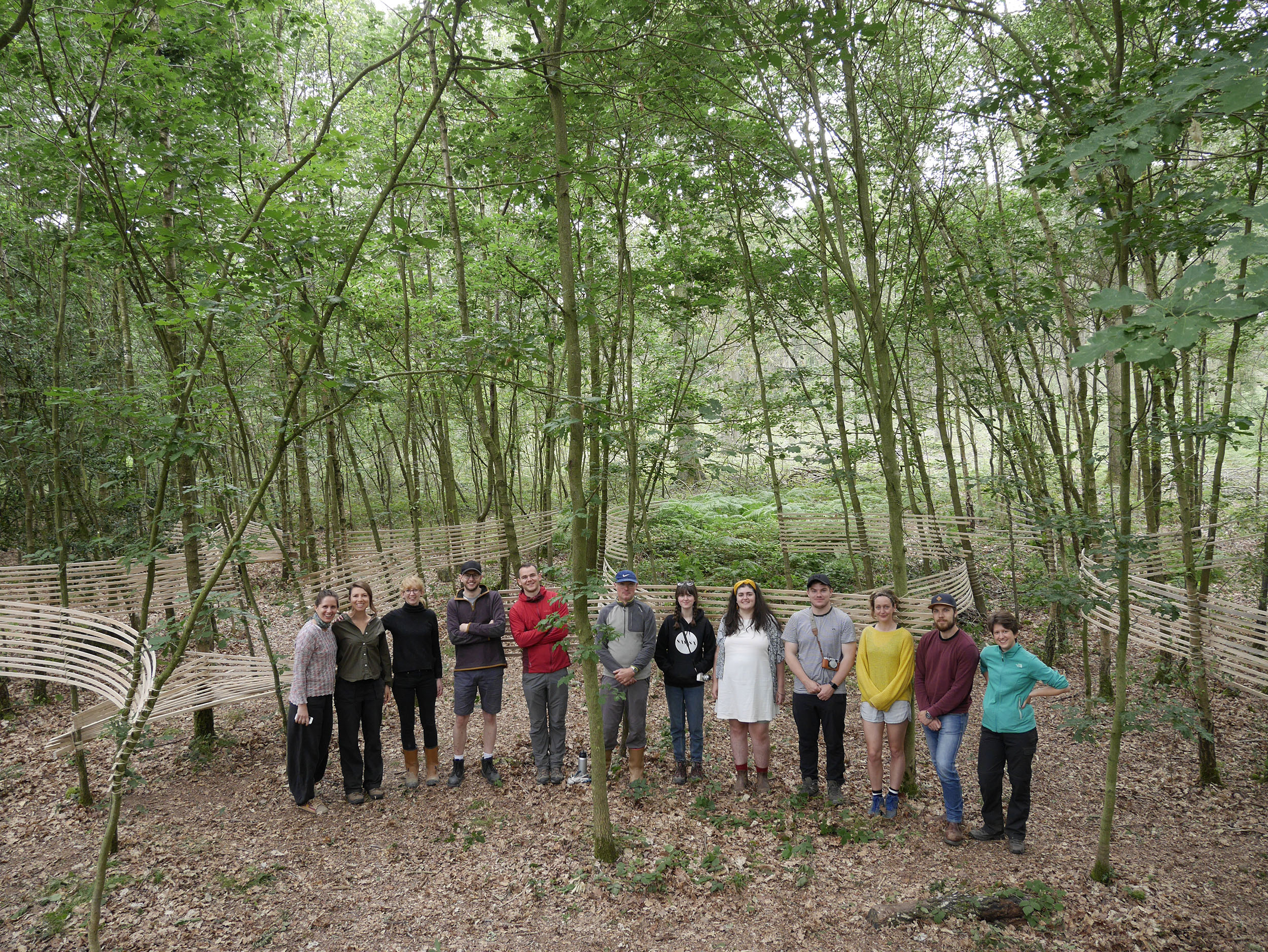Studio in the Woods 2019. The team that design and built 'Pause'