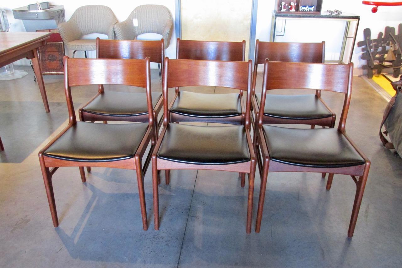 Set of 6 Funder Schmidt Madsen Teak Dining Side Chairs