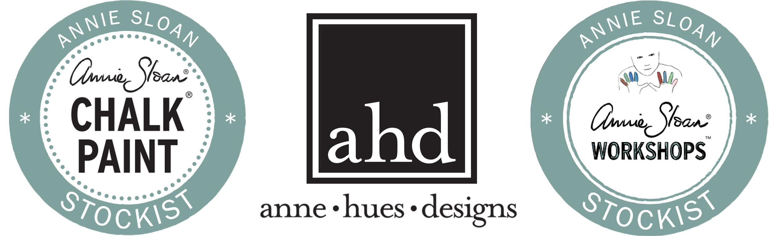 anne•hues•designs logo banner
