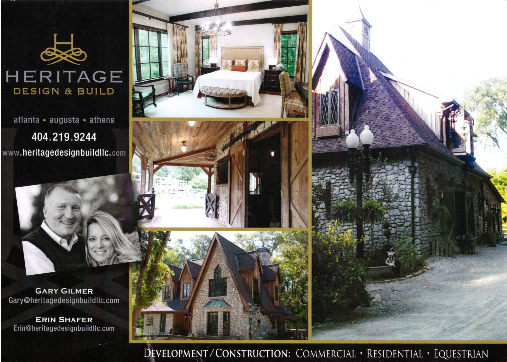 Heritage Design & Build Postcard Ad
