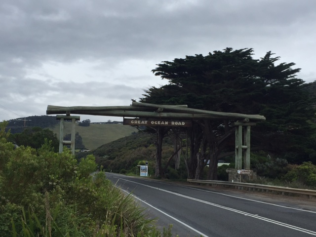 The start of The Great Ocean Road!