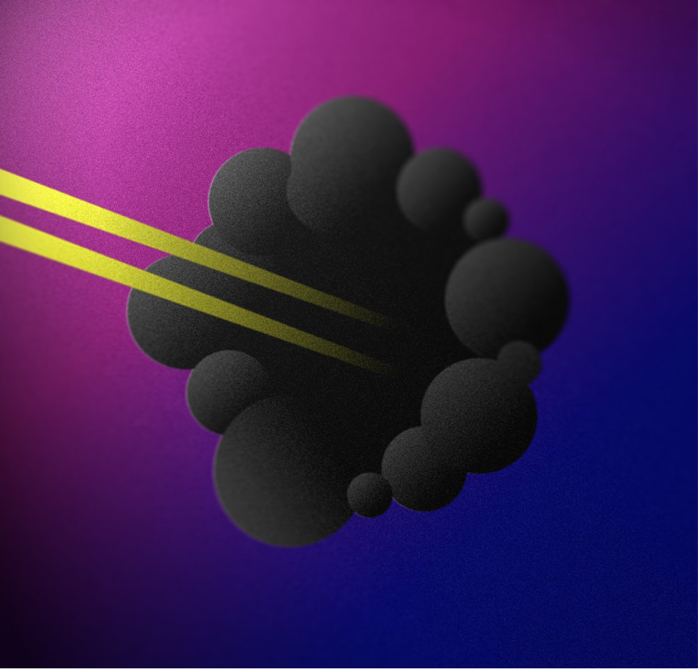 Blackhole - This was an exploration of creating something out of simple shapes.