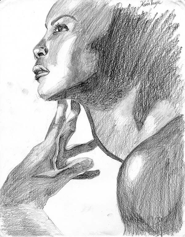 Her Voice Will Endure - A pencil sketch.