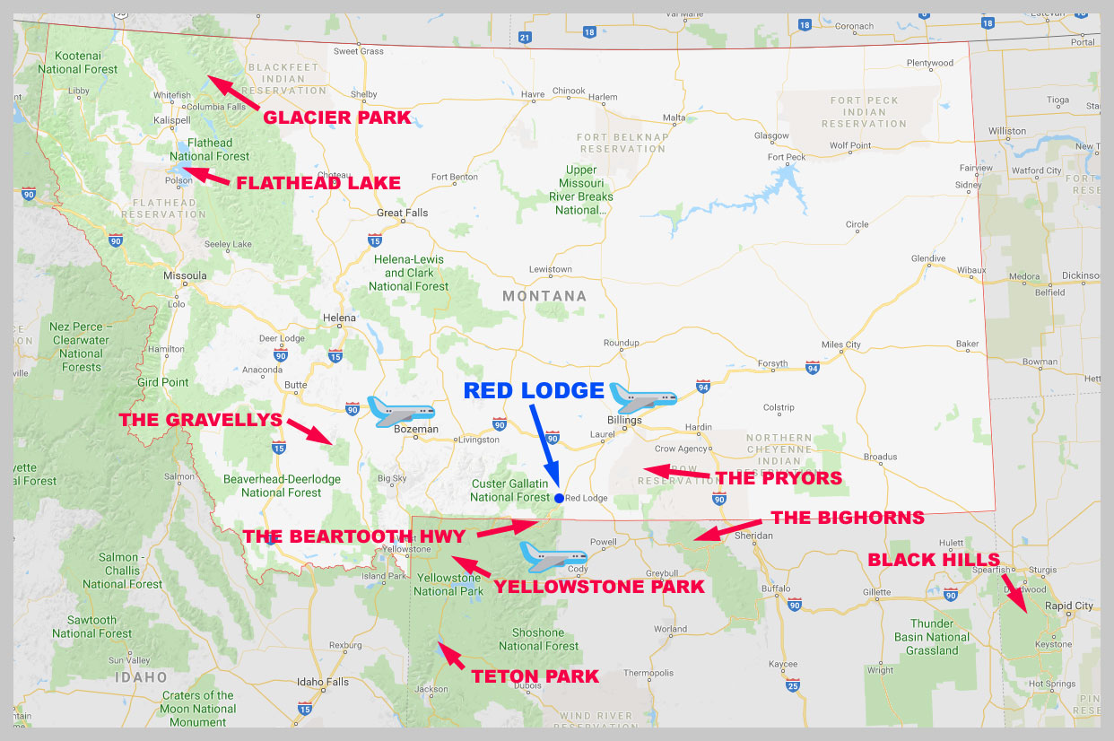 Red Lodge Montana Map Places to Visit in the Red Lodge Area — Rocky Mountain Motos