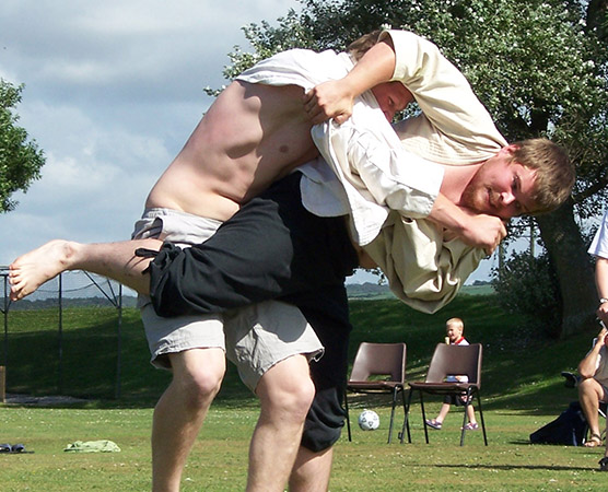 Cornish Wrestlers - Wrestling is a distinct Cornish tradition that survives to the present day. The history of Cornish Wrestling goes back so far it is lost in the midst of time.