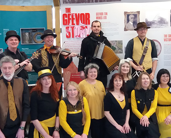 Penzance Guizers - As a Cornish/Celtic/Historical music and dance group we have been learning, teaching and entertaining for six years and are looking forward to doing all three at Lowender Peran this year!