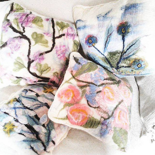 Angie Truman - Angie Truman Feltwork's charming hand felted products are an artwork in themselves! Angie makes the fabric from merino and locally sourced, hand dyed sheep wool. As well as her cosy scarves and mittens, she also creates jewellery, bags and purses, and items for the home.