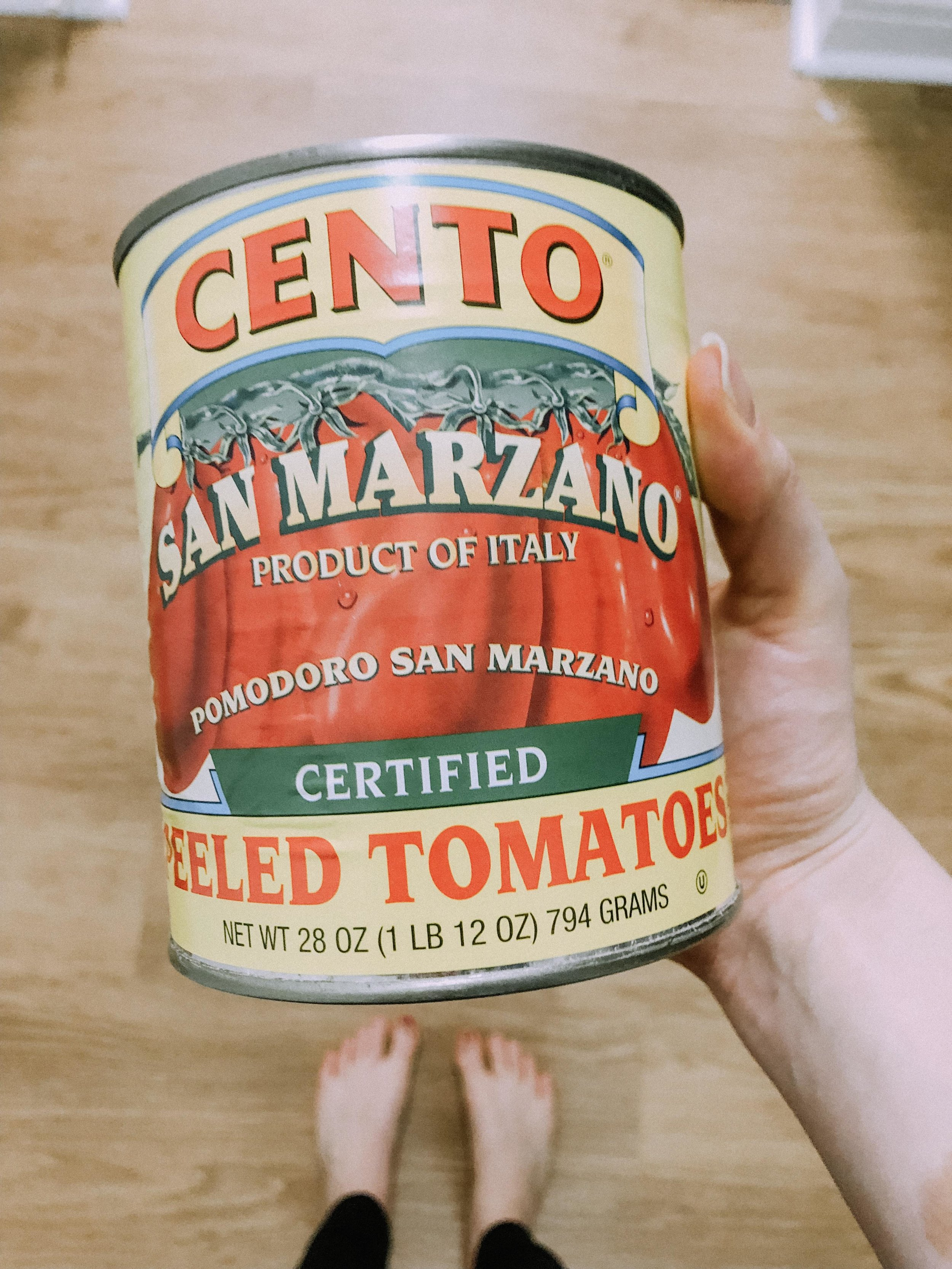 We get these tomatoes from our local Trader Joe's. San Marzano tomatoes are certified for their quality and you can taste the difference.