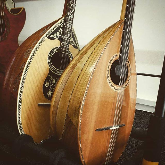 Finally brought these two into the studio. Regular and custom fretless bouzouki. #musicstudio #bouzouki #recordingstudio #gameaudio #originalsoundtrack #sounddesign #fretless