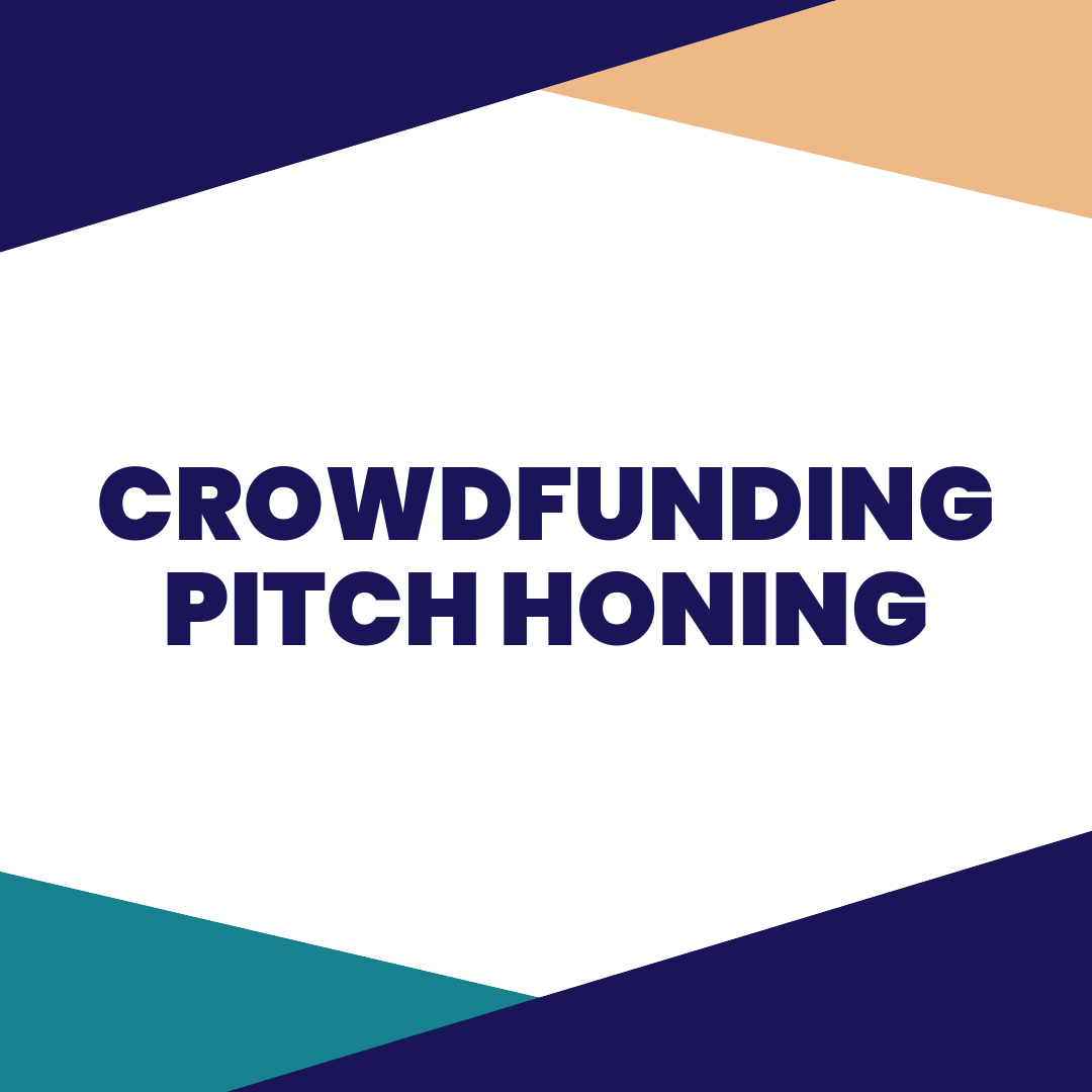 CROWDFUNDING PITCH HONING - In this session, you get one-on-one crowdfunding coaching, with an iFundWomen Certified Crowdfunding Coach. This session will be focused on honing your crowdfunding pitch. To make the most of your private, you should watch the entire Crowdfunding eCourse, and write a first draft of your pitch before booking your private.
