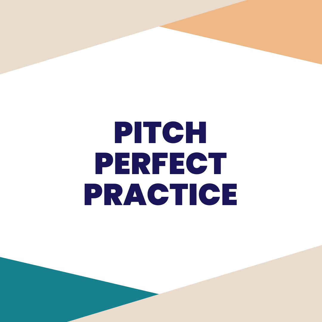 PITCH PERFECT PRACTICE - Book this private session anytime you need help refining and practicing your pitch. Whether you are crowdfunding, competing in a pitch competition, or need a confidence boost, this private session is sure to leave you walking away with your swagger in tact.