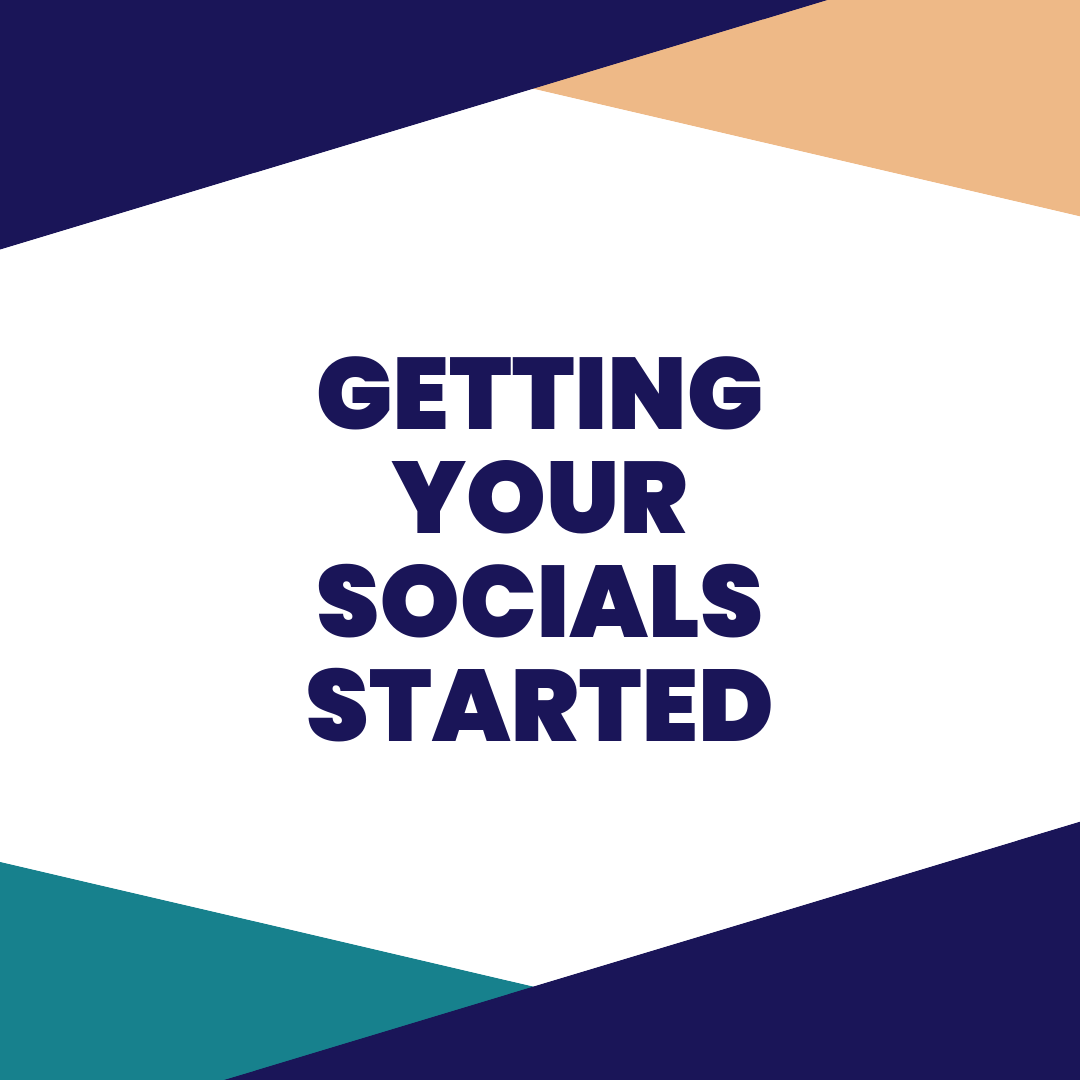 getting your SOCIALS started - Avoiding getting that Instagram and Facebook started for your new business? We feel you. In this session, we will help you get organized and get your socials set up with some solid strategies you can start implementing right away.