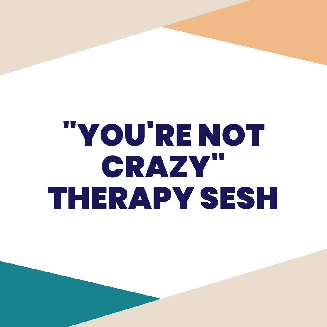 "You're not crazy therapy sesh - The title of this private coaching session pretty much explains it all. Sometimes, as entrepreneurs, we just need someone to talk to who has ""been there, done that"", and can listen and give advice if you want or need it."