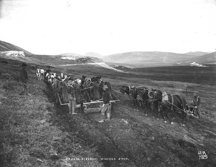 Digging the canal called Miocene Ditch, Seward Peninsula, Alaska, ca. 1900..jpg