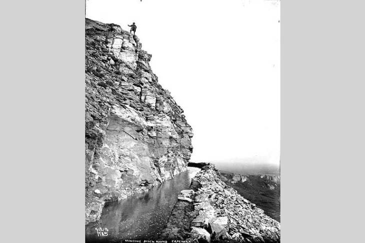 Canal called the Miocene Ditch, Seward Peninsula, Alaska, ca. 1900.jpg