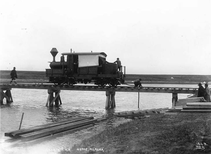 Wild Goose Railroad, vicinity of Nome, Alaska, ca. 1901.jpg