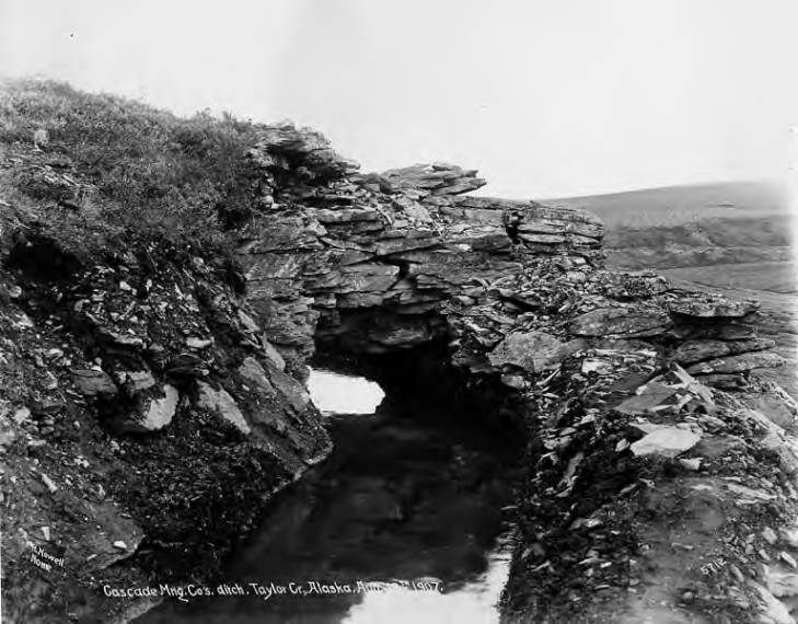 Cascade Mining Company's ditch in Taylor Creek, near Nome, Alaska, August 18, 1907.jpg