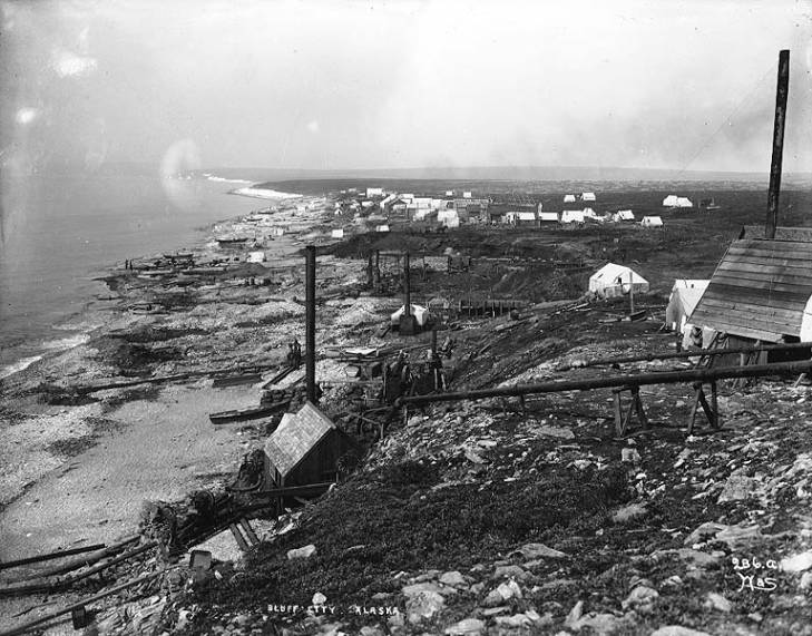 Mining claims at Bluff, Alaska, ca. 1900..jpg
