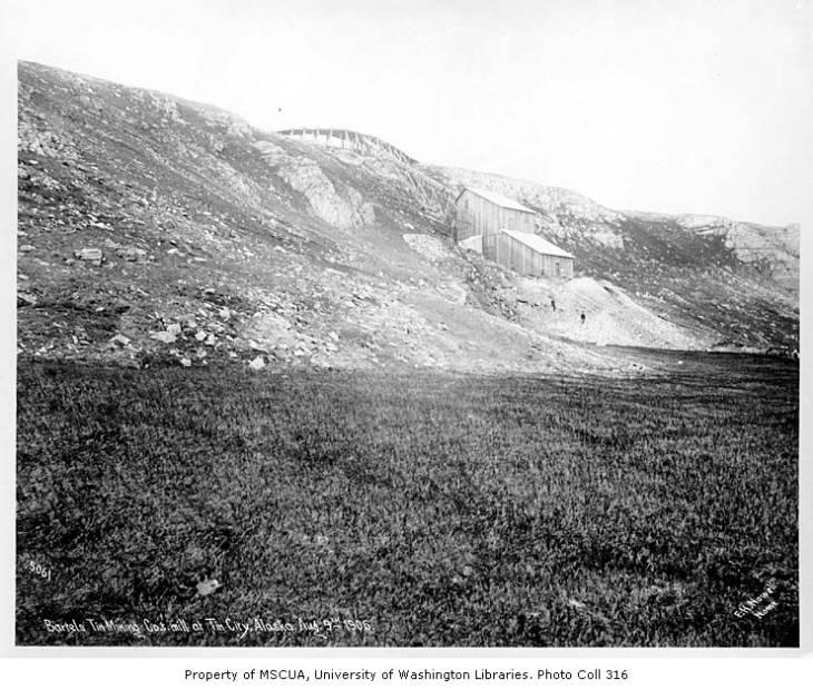 Bartels Tin Mining Co. mill, Tin City, August 9, 1906.jpg