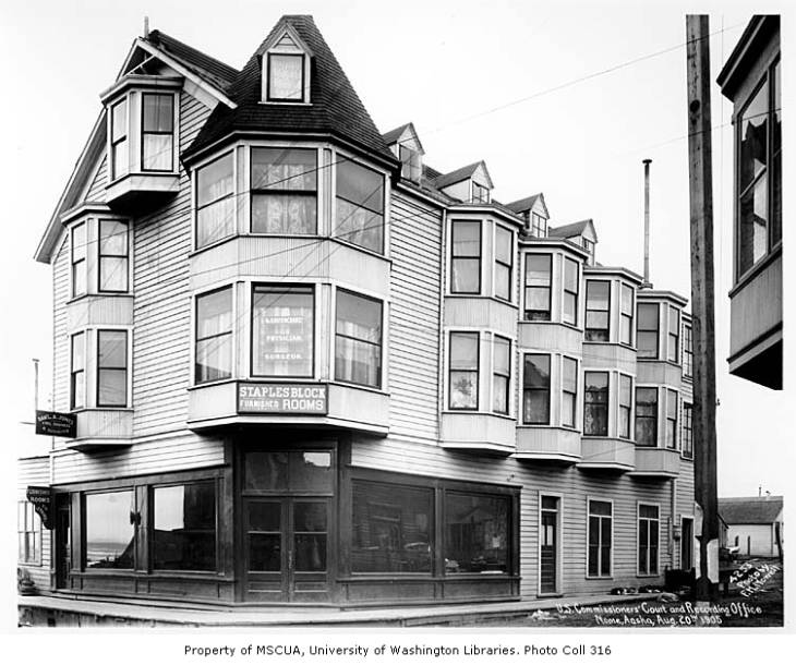 Building which housed the U.S. Commissioners' Court and Recording Office, Nome, August 20, 1905.jpg