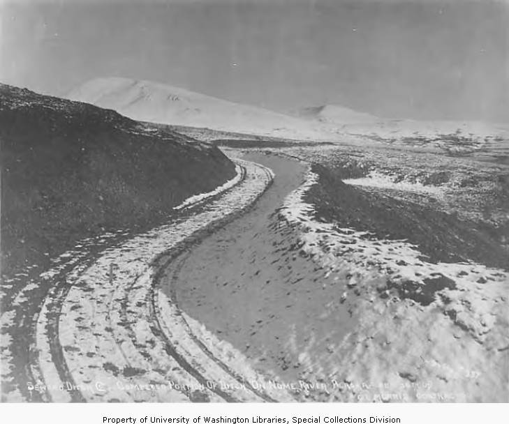 Completed portion of ditch on the Nome River by Seward Ditch Company, 1903-1907.jpg