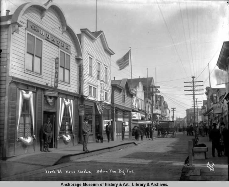 Front St., Nome, Alaska, before the big fire. 1905.jpg