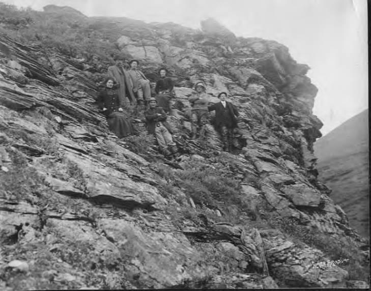 Group of people posed on hillside, Alaska, 1906-1913 dorth(maybe).jpg