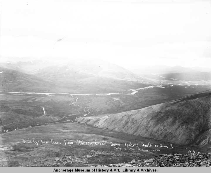 Hobson Creek Dome looking south on Nome R[iver], July 17, 1906, Nome, Alaska..jpg