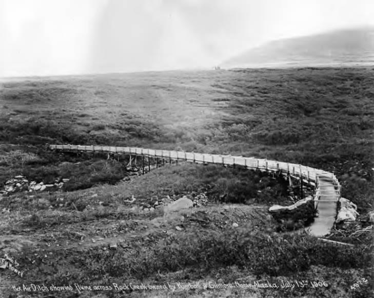 Kimball & Gilmore flume across Rock Creek near Nome, Alaska, July 13, 1906.jpg