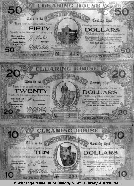 Miner money, Clearing House Association of Nome, 1908..jpg