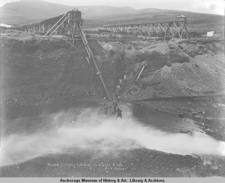 Miosene Company operating on Glacier Creek, Nome, Alaska..jpg