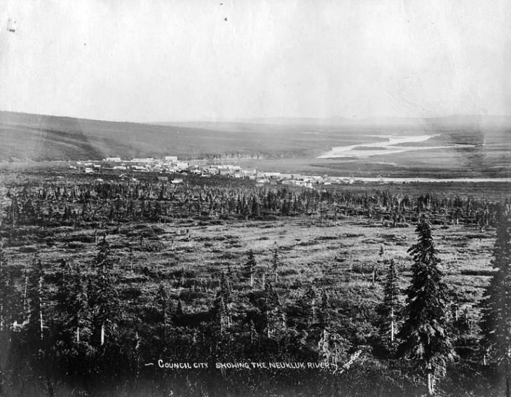 Neukluk River and Council, Alaska, circa 1905.jpg