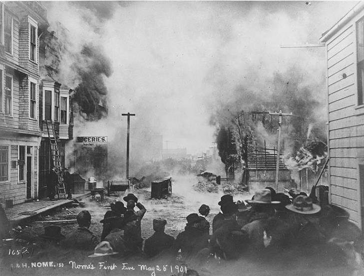Nome's first fire, Alaska, May 25, 1901.jpg