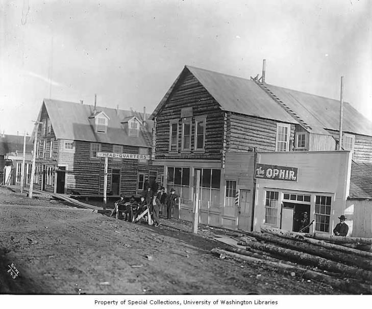 Street scene showing the Ophir Saloon, Council, Alaska, circa 1907.jpg