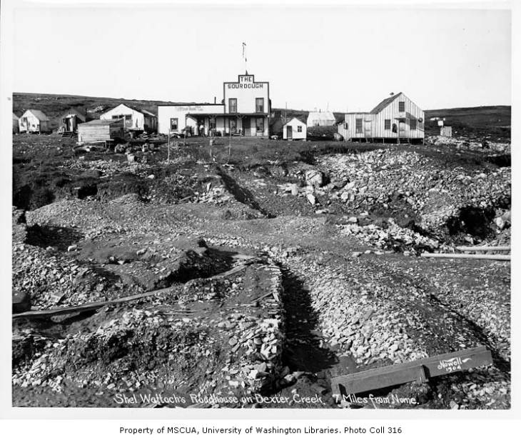 The Sourdough Roadhouse on Dexter Creek, 1904.jpg