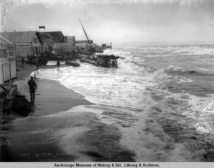 View of Nome Beach, Aug. 1900..jpg