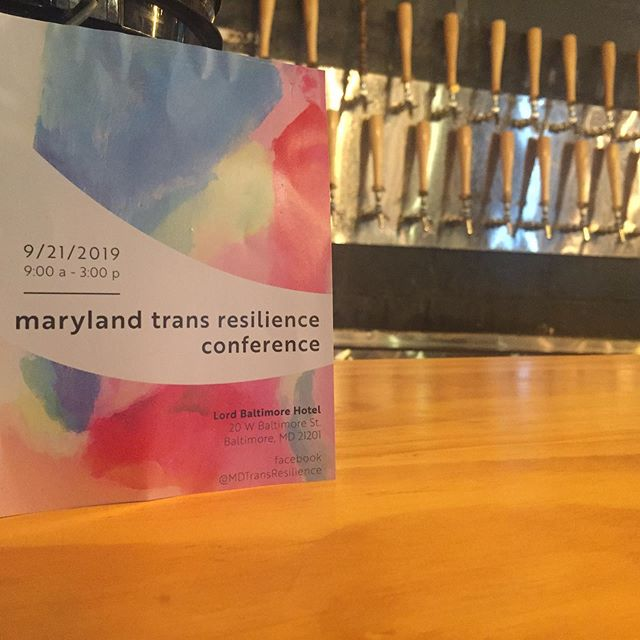 Come to @peabodyheightsbrewery tonight (Wed 7/24/19) between 5-9pm to support the @mdtransresilience Conference in conjunction with BTA, @transhealthcaremd, and CLEAR. ✨ Together we aim to make this Maryland's first Trans-led/Trans-focused Conference. Tonight's proceeds go toward making that a reality, donations are welcome at our resource table. Can't wait to see y'all there!