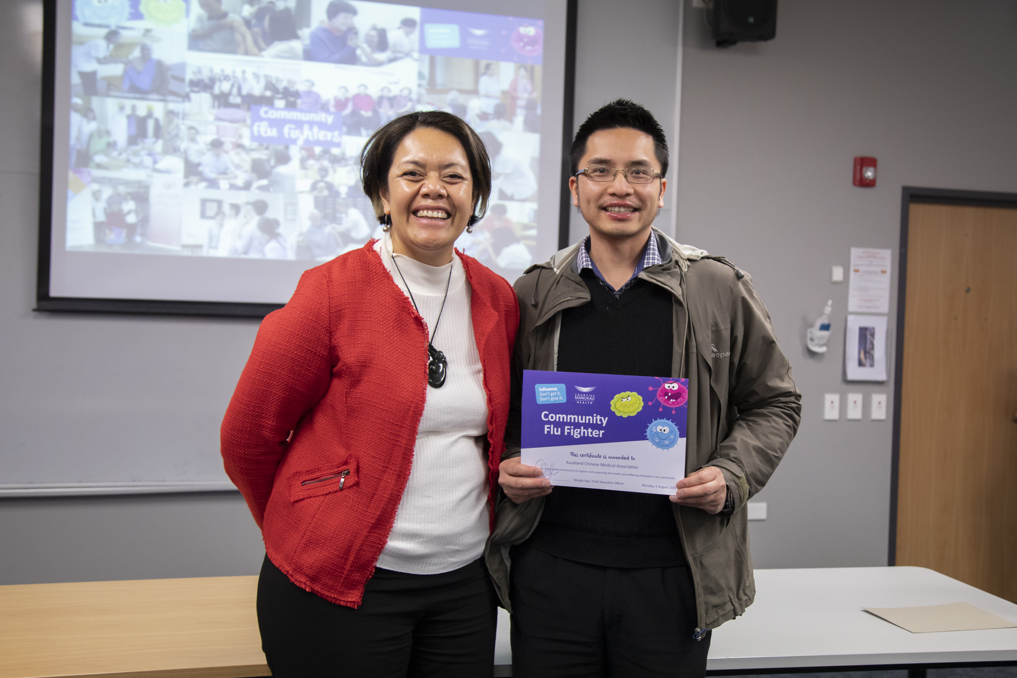 Flu Fighters Awards Ceremony - Mon 05 August 2019Manukau Superclinic, Manukau