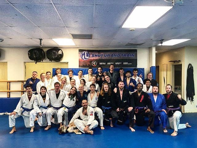 30 People and a Dog make for a fabulous night of Jiu Jitsu! #bjj #gainesville #shutupandtrain #jits #jiujitsu #oldschoolbestschool #oss