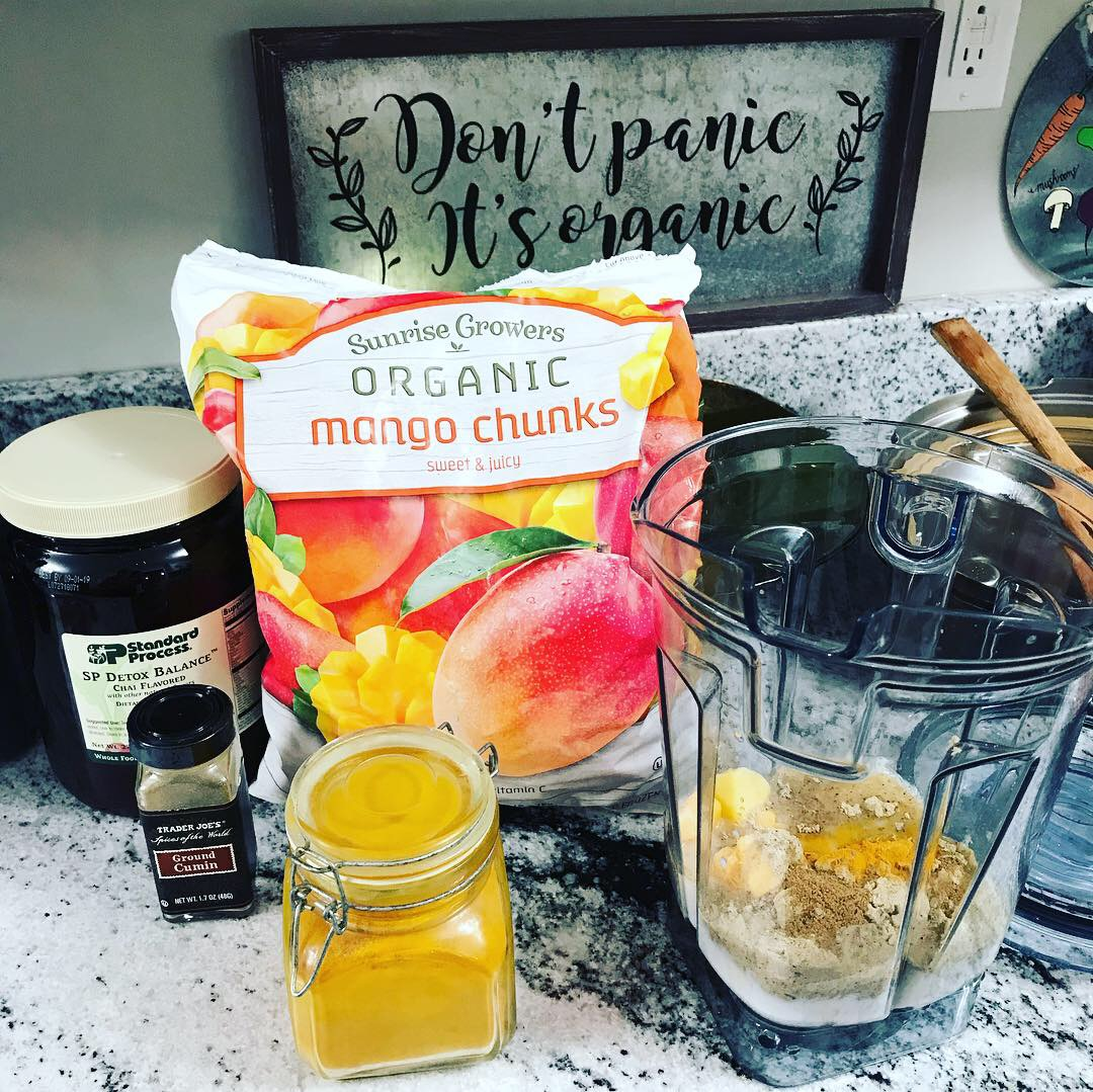 "Our Standard Process 10-Day Detox Balance Shake. Mango, Turmeric and Cumin - R E F R E S H I N G !  Interested in a Program? Hit ""Work With Us"" and send Dr. Tucker a message!"