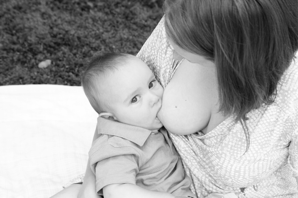 A photo to mark our 1 year of breastfeeding