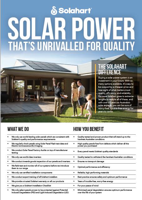 Solahart Solar PV