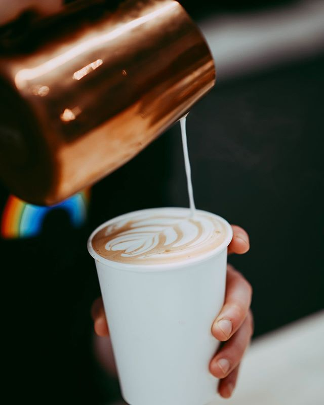 Pouring out the love. All day, every day. And proud of it. You deserve it! We all do! Join Us! . . . 📸 x @reeseosbornee . . . #Pride #Love #MorethanCoffee #392Caffe #Experience #LatteArt #Culture #DrinkBetterCoffee #Team392