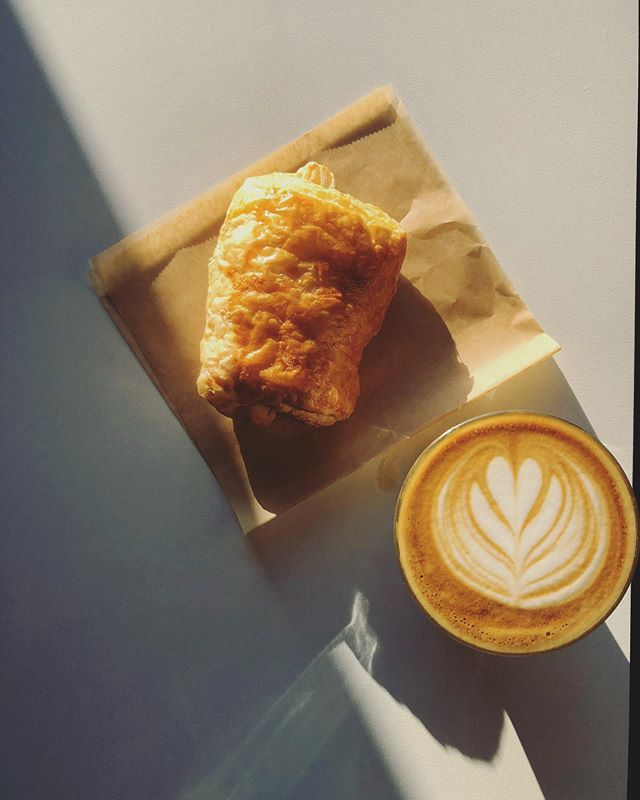 A Cortado and a Croissant. Perfect! Happy Friday!