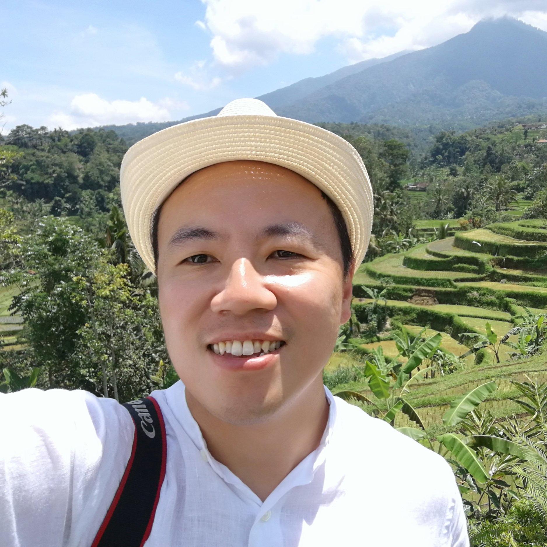 Ricky at the heavenly Bali Island.