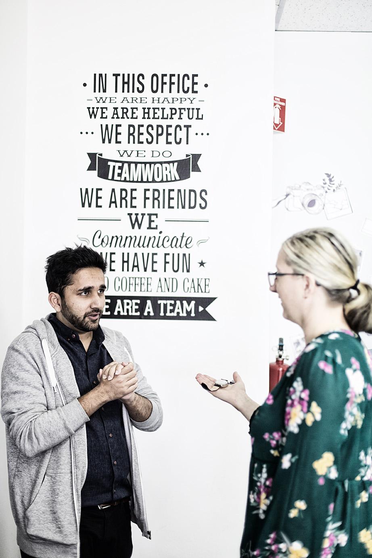 Communication between staffs