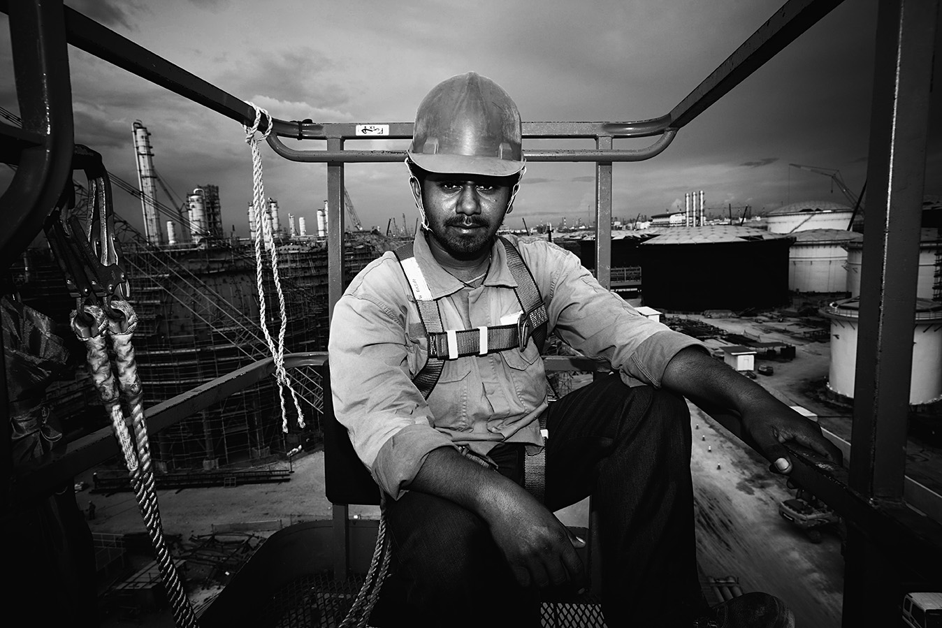 A boom-lift operator that was always with me in the last few months documenting the work process on-site. To me he is a man out there working hard to provide a living for his family back home. Thank you for always keeping me safe out there wherever you are now.