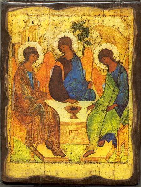 Welcomed by God - This Rubelev icon depicts God as Trinity, and we are invited to the table to join in the fellowship, join in their love relationship. But many of us experience how hard it is to stay alive spiritually, to live our lives daily in and through this relationship with God. We discover that we need help to remember who God is, to be open to God's work in our lives, to experience and recognize God's presence with us.