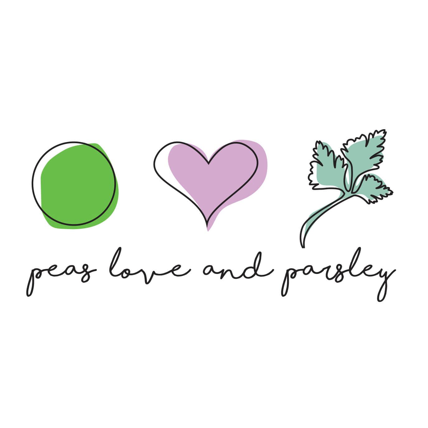 Peas Love and Parsley Logo