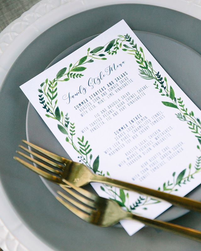 A wedding is all about the details and one of my favorites details is always THE MENU! Always a pleasure working with The Girl and The Fig catering (@figgirl) to bring guests the very best in local, seasonal fare. [💌 by @smittenonpaper]